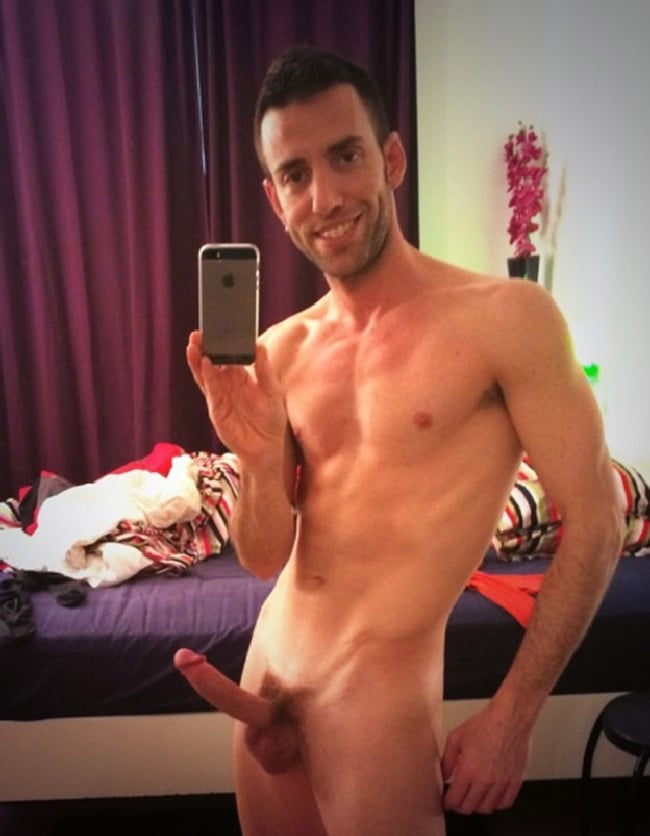 Happy Nude Man With Erection