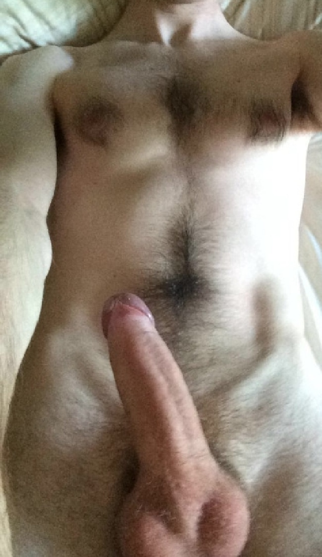 Hairy Man Uncut Cock